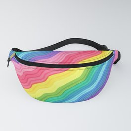 Squiggle Stripes Fanny Pack
