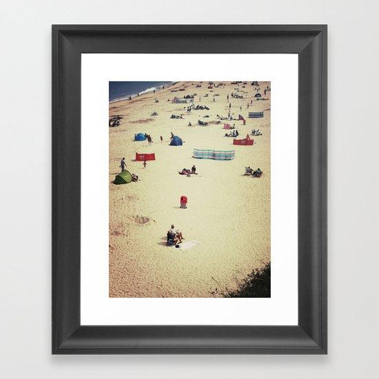 Beach (English Riviera) Framed Art Print