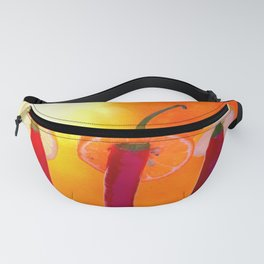 Red chili peppers. Hola Amigo Fanny Pack