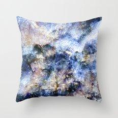Blue Textures Throw Pillow