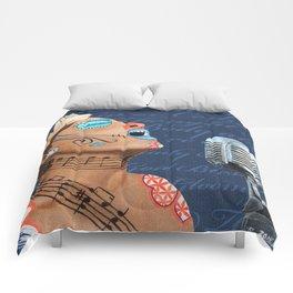 Billie Holiday Dia De Los Muertos Comforters