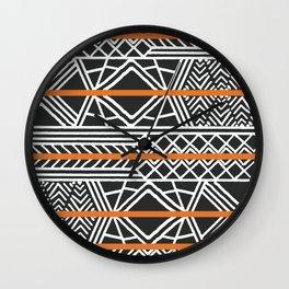 Tribal ethnic geometric pattern 022 Wall Clock