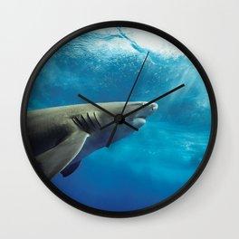 Lemon Shark Rising Wall Clock