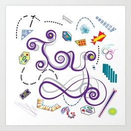 Typography in Design-TOY Art Print
