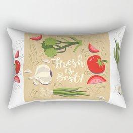Fresh Is Best In The Kitchen Rectangular Pillow