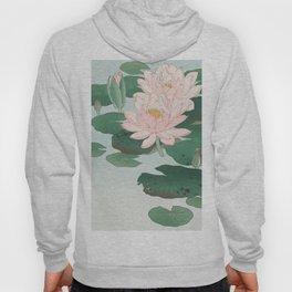 Water Lilies - Japanese vintage woodblock print Hoody