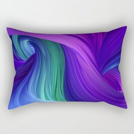 Twisting Forms #3 Rectangular Pillow