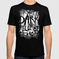 The night is dark and full of terrors Mens Fitted Tee MEDIUM Black