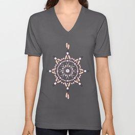 Breast Cancer Survivor Kaleidoscope Art Unisex V-Neck