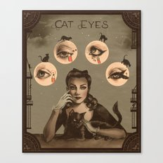 Cat Eyes Makeup Tutorial Illustration Canvas Print