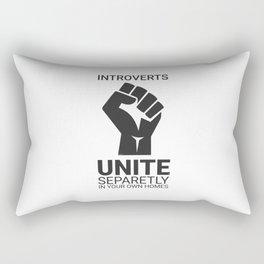 Introverts unite Rectangular Pillow