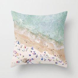 Pastel Beach Throw Pillow