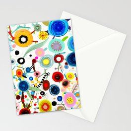 Rupydetequila whimsical floral art 2018 Stationery Cards