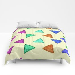Colorful vintage interior design and textile design pattern on canvas Comforters