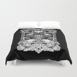 THE POLITICS OF GREED Duvet Cover