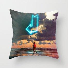 Direction Throw Pillow