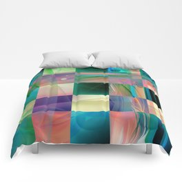 Abstract Exclusion Pattern Comforters