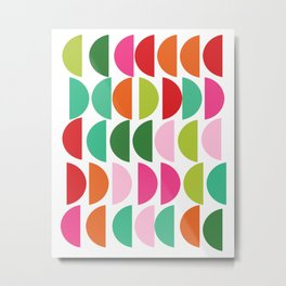 Festive Holiday Colors Geometric Pattern Metal Print