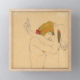 "Egon Schiele ""Two Women Embracing"" Framed Mini Art Print"