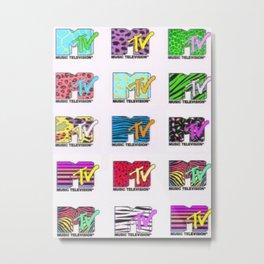 80s MTV Logos Metal Print