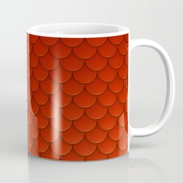 Red Mermaid Scales Coffee Mug