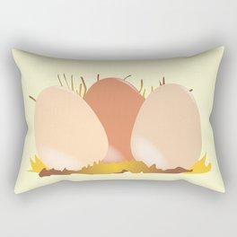 Three Chicken Eggs Rectangular Pillow
