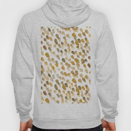 Imperfect brush strokes - ochre and brown Hoody