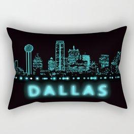 Digital Cityscape: Dallas, Texas Rectangular Pillow