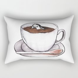 Caffeine addict tea and coffee cup illustration Rectangular Pillow
