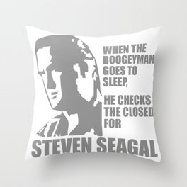 Steven Seagal Boogeyman Mma Funny Throw Pillow