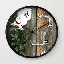 Theo and the Worm Wall Clock