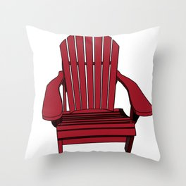Sit back and relax in the Muskoka Chair Throw Pillow