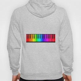 Rainbow Piano Keyboard  Hoody