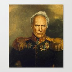 Clint Eastwood - replaceface Canvas Print