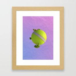 Kai Planet - Low Poly Framed Art Print