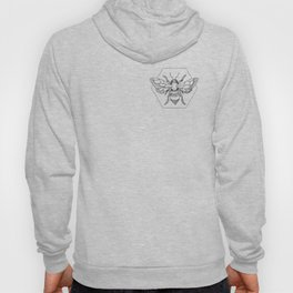 Pen&Ink Bee Tattoo Hoody