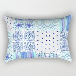 Amalfi Coast Tiles Rectangular Pillow