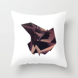 3D purple flying object Throw Pillow