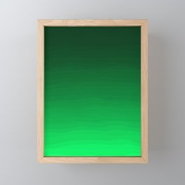 Happy Bright Apple Green Ombre Framed Mini Art Print
