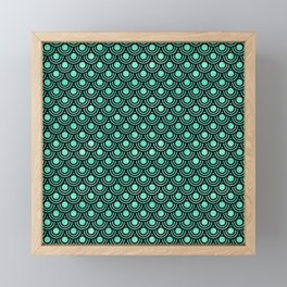 Mermaid Scales in Metallic Sea Foam Green Framed Mini Art Print