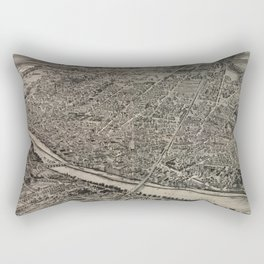 Vintage Pictorial Map of New Brunswick NJ (1910) Rectangular Pillow