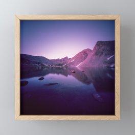 Billy's Lake Blue Hour Framed Mini Art Print