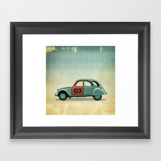 Number 03 _ Citron 2CV Framed Art Print