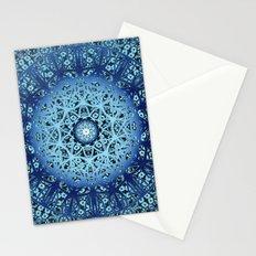 Blue Nouveau Mandala Stationery Cards