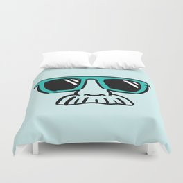 Too Cool (green cyan) Duvet Cover