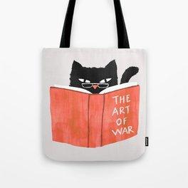 Cat reading book Tote Bag