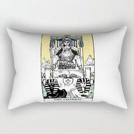 Geometric Tarot Print - The Chariot Rectangular Pillow