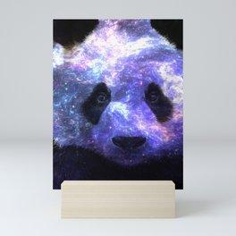 Galaxy Panda Space Colorful Mini Art Print