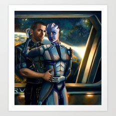 Mass Effect - Always here for you. Art Print