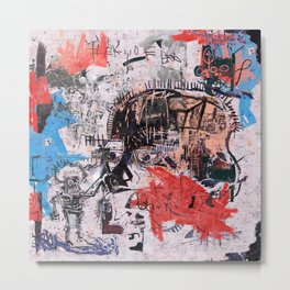 Basquiat Style Metal Print
